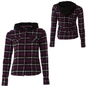 Vans Pull Me Over Plaid Flannel Top - Long-Sleeve - Womens
