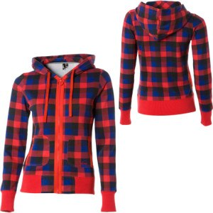 Vans Pretty In Plaid Full-Zip Hooded Sweatshirt - Womens