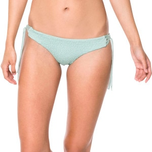 Volcom Mother Pucker Smocked Front Retro Faux Tie Side Bikini Bottom - Women's