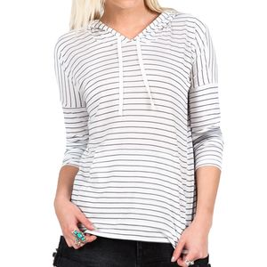 Volcom Lived In Stripe Pullover Hoodie - Women's