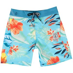 Volcom Party Pack Safari Elastic Waist Board Short - Boys'