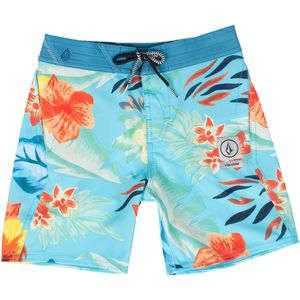 Volcom Party Pack Safari Elastic Waist Board Short - Little Boys'
