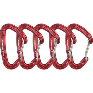 Wild Country Astro Carabiner Red - 5-Pack