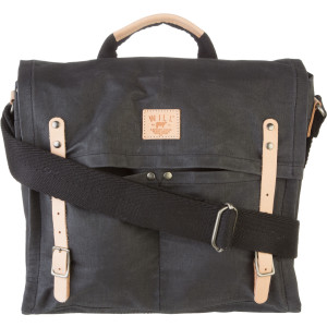 Will Leather Goods Wax Coated Canvas Shoulder Messenger Bag