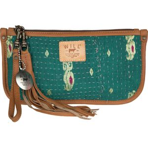 Will Leather Goods Kantha Quilted Clutch
