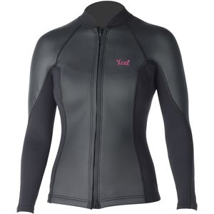 XCEL Hawaii Makaha SmoothSkin 2/1 Front-Zip Wetsuit Jacket - 2016 - Women's