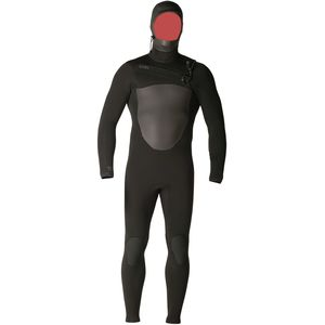XCEL Hawaii 4/3mm Drylock TDC Black Hooded Full Wetsuit - Men's