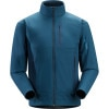 Arcteryx Hyllus Fleece Jacket - Mens Blue Moon, XL - Polartec Power Shield O2 High Loft,high loft fleece,faced fleece jacket