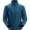 Arcteryx Hyllus Fleece Jacket - Mens Blue Moon, L - Polartec Power Shield O2 High Loft,high loft fleece,faced fleece jacket