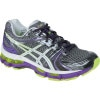 Asics GEL-Kayano 18 Running Shoe - Women's Titanium/White/Neon Purple, 6.0