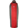Big Agnes Encampment Sleeping Bag: 15 Degree Synthetic Red/Grey, Long/Right Zip