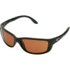 Costa Del Mar Zane Polarized Sunglasses - Costa 580 Polycarbonate Lens Matte Black/Copper, One Size