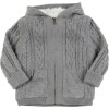 Egg Cable Faux Fur Cardigan - Toddler Boys'