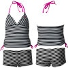 Hurley Surfside Stripe Tankini & Boyshort Swimsuit - Girls'