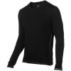 Icebreaker BodyFit 150 Crew - Long-Sleeve - Men's Black/Mineral, XL