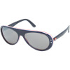 I Ski Outhouse Sunglasses Blue White Red/Polycarbonate Smoke W/Silver Mirror, One Size