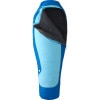 Marmot Trestles 15 Sleeping Bag: 15 Degree Spirafil - Women's Summer Blue/Sierra, Reg/Right Zip