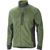 Marmot Solar Flair Fleece Jacket - Mens Green Pepper/Dark Granite, M - Marmot Solar Flair Fleece Jacket - Men's Green Pep,fleece,stretch,flat seam,elastic