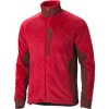 Marmot Solar Flair Fleece Jacket - Mens Team Red/Brick, XL - Polartec,fleece,stretch,flat seam,elastic
