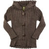 Nui Organics Rib Hooded Jacket - Toddler Girls'