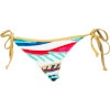 Roxy Golden Maze Binded Brazilian String Bikini Bottom - Women's