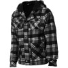 Tomahawk Grey Wolf Sherpa Full-Zip Flannel Hoodie - Men's