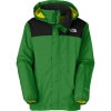 The North Face Resolve Jacket - Boys Arden Green, M - kids' rain jacket,kids' hiking jacket,kids' wind shell,youth rain jacket,kids' summer jacket