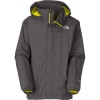 The North Face Resolve Jacket - Boys Graphite Grey/Sulphur Spring Green, XS - kids' rain jacket,kids' hiking jacket,kids' wind shell,youth rain jacket,kids' summer jacket