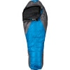 The North Face Nebula Sleeping Bag: 15 Degree Down League Blue, Reg/Left Zip