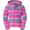 The North Face Striped Glacier Full-Zip Hoodie - Toddler Girls'