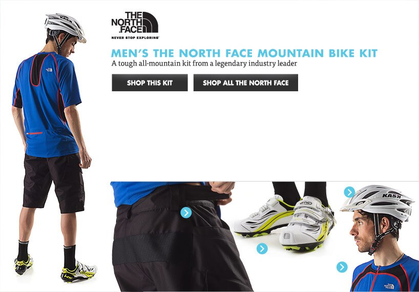 Mens The North Face Mountain Bike Kit