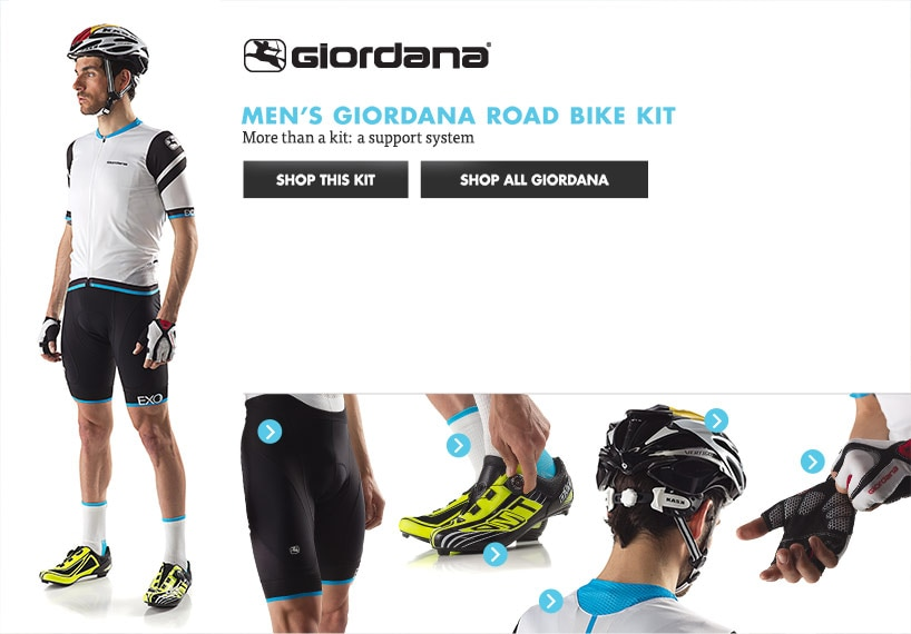 Mens Giordana Road Bike Kit