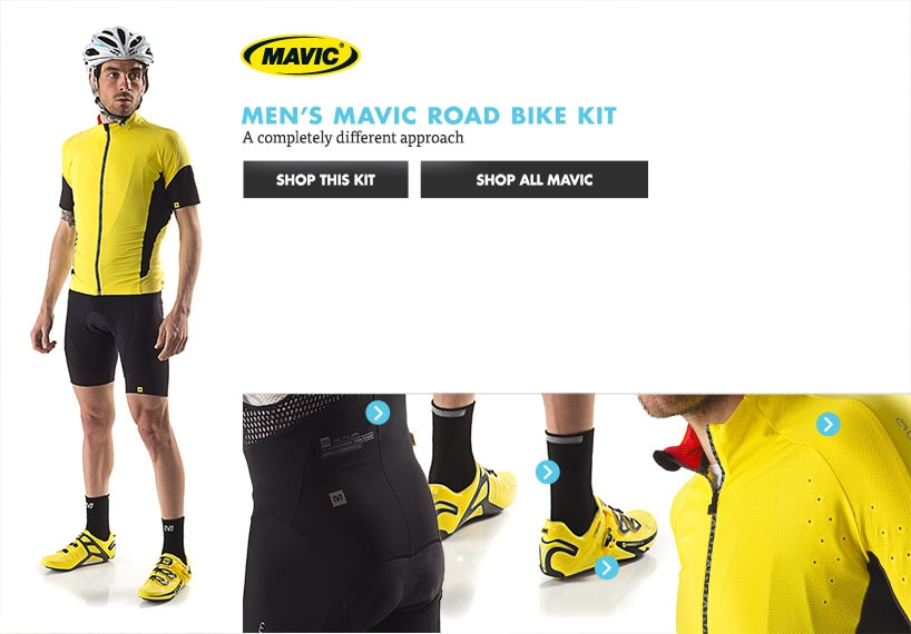 Mens Mavic Road Bike Kit