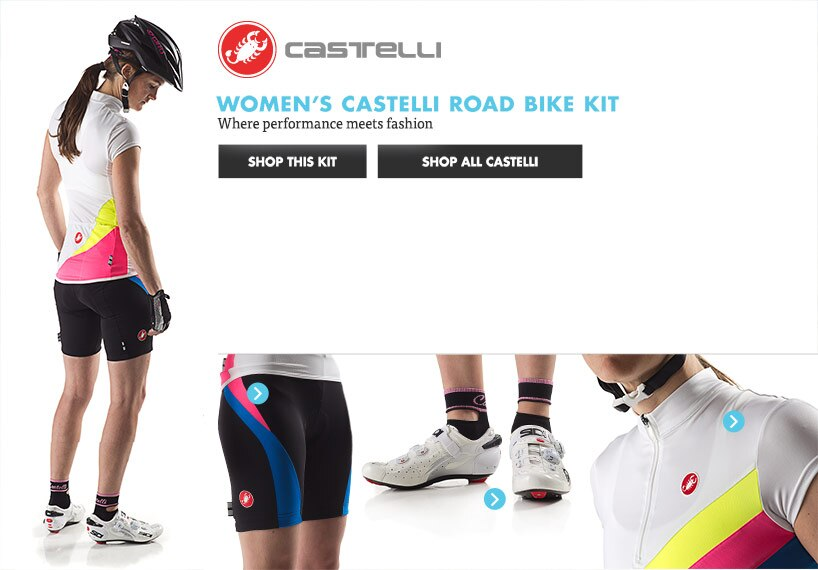 Womens Castelli Road Bike Kit