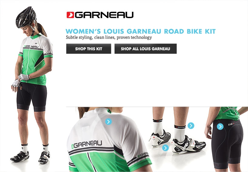 Womens Garneau Road Bike Kit