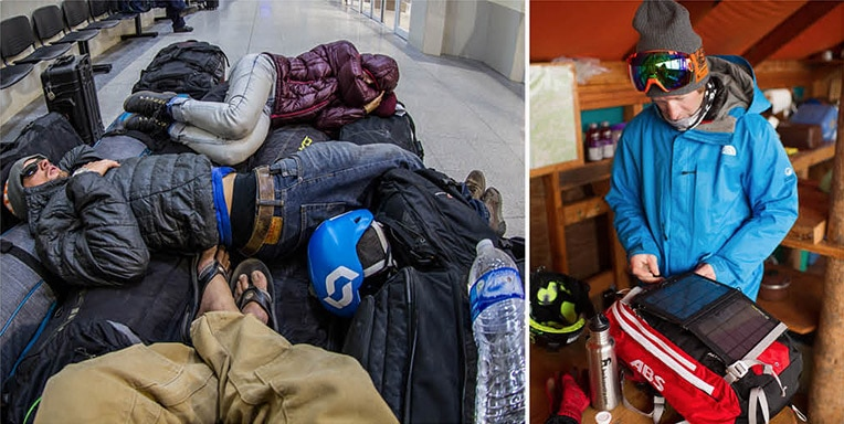 Travelling with an Avalanche Airbag Backpack