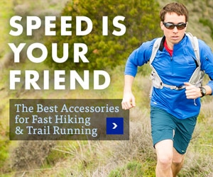 Products for fast running and hiking