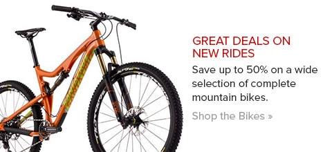 Up to 50% Off Mountain Bikes