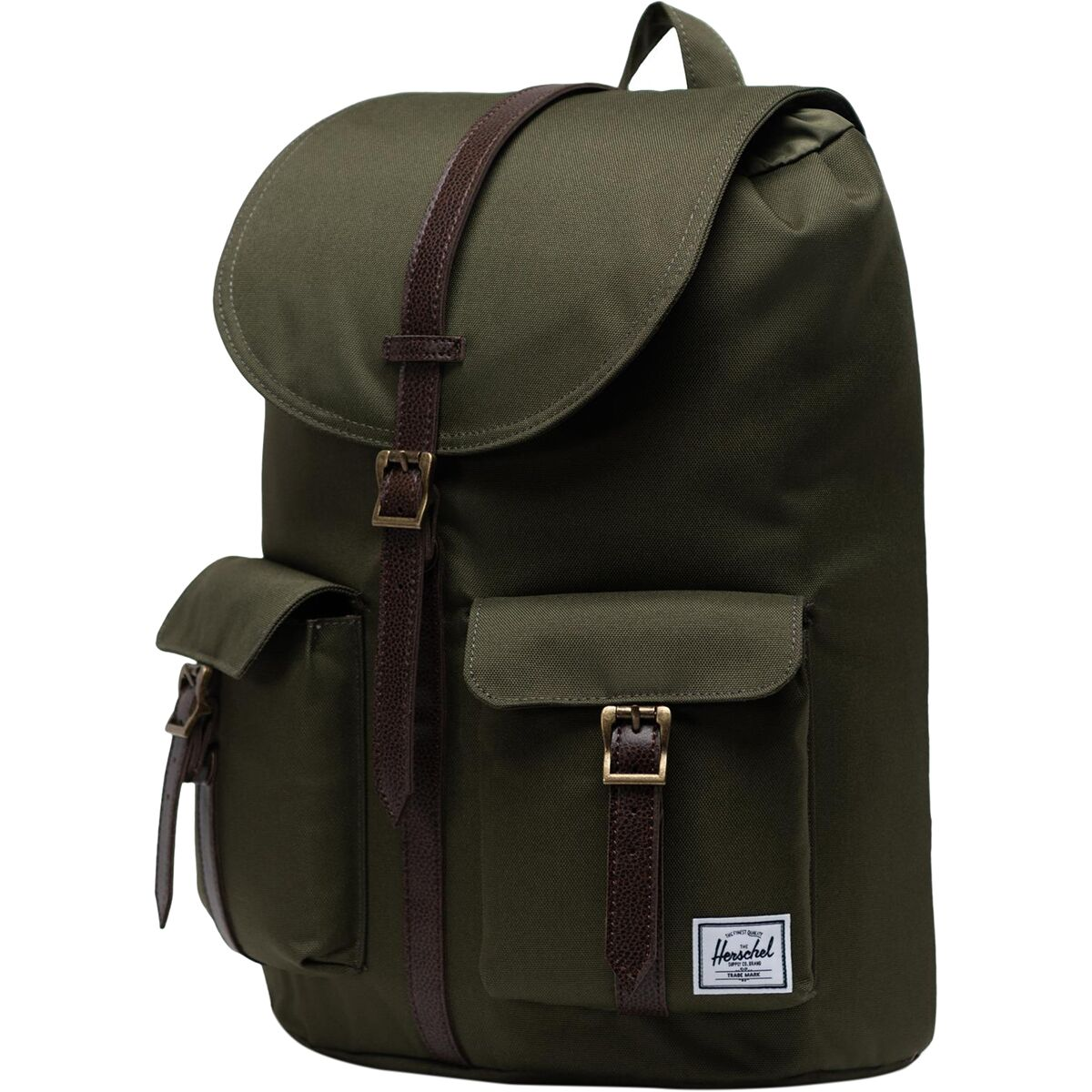 Herschel Dawson Backpack Black//Tan Synthetic Leather Classic 20.5L