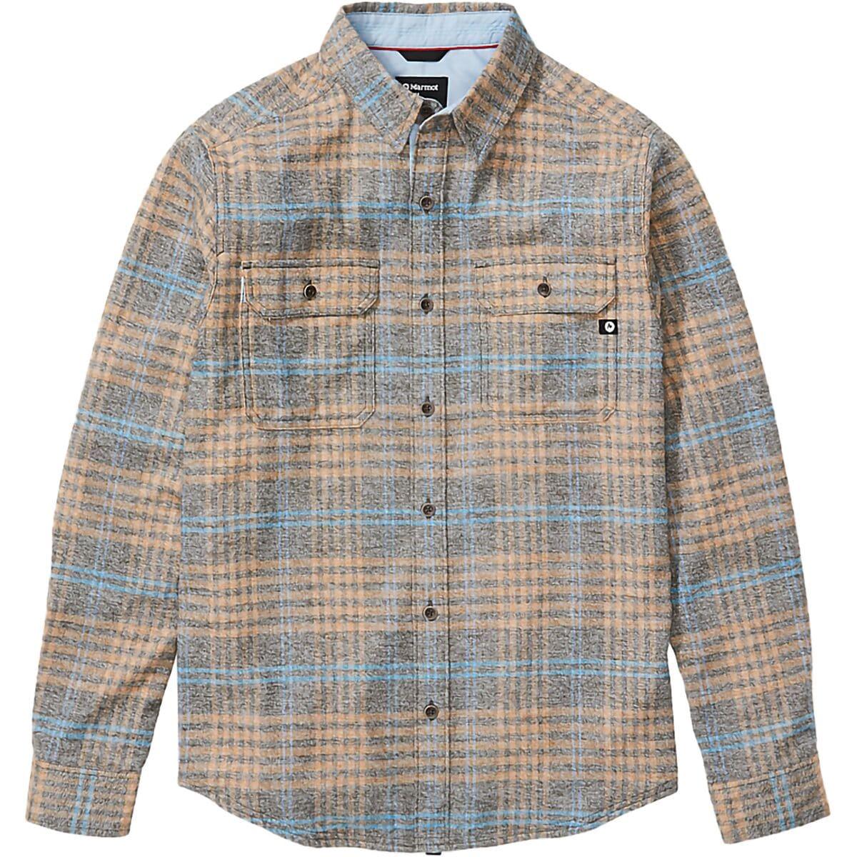 con Protezione UV Marmot Jasper Midweight Flannel LS Camicia da Esterni a Maniche Lunghe da Trekking Traspirante