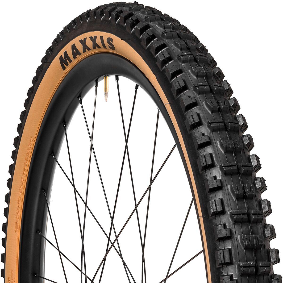Black//Tan Tubeless Maxxis Minion DHR II Tire 27.5 x 2.4 Folding EXO Dual