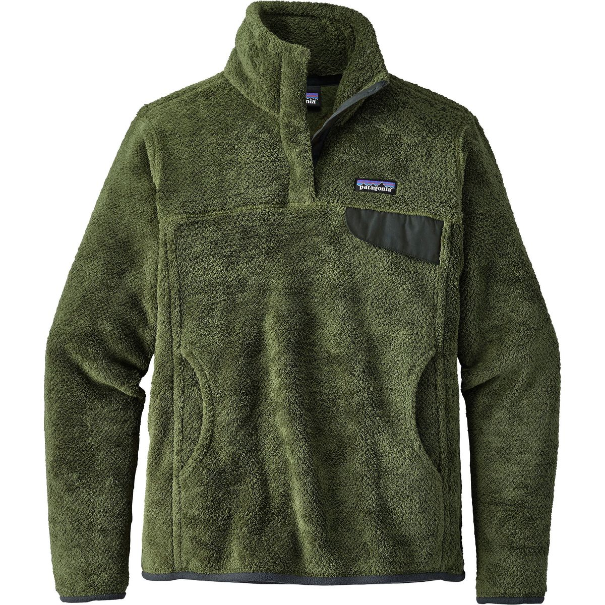 Patagonia Re-Tool Snap-T Fleece Pullover for Womens (Buffalo Green)