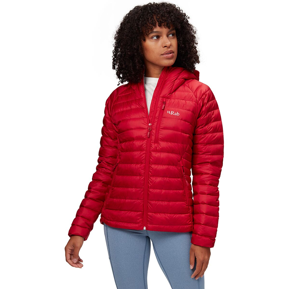 UK10 RAB Womens Microlight Alpine Jacket Steel//PASSATA