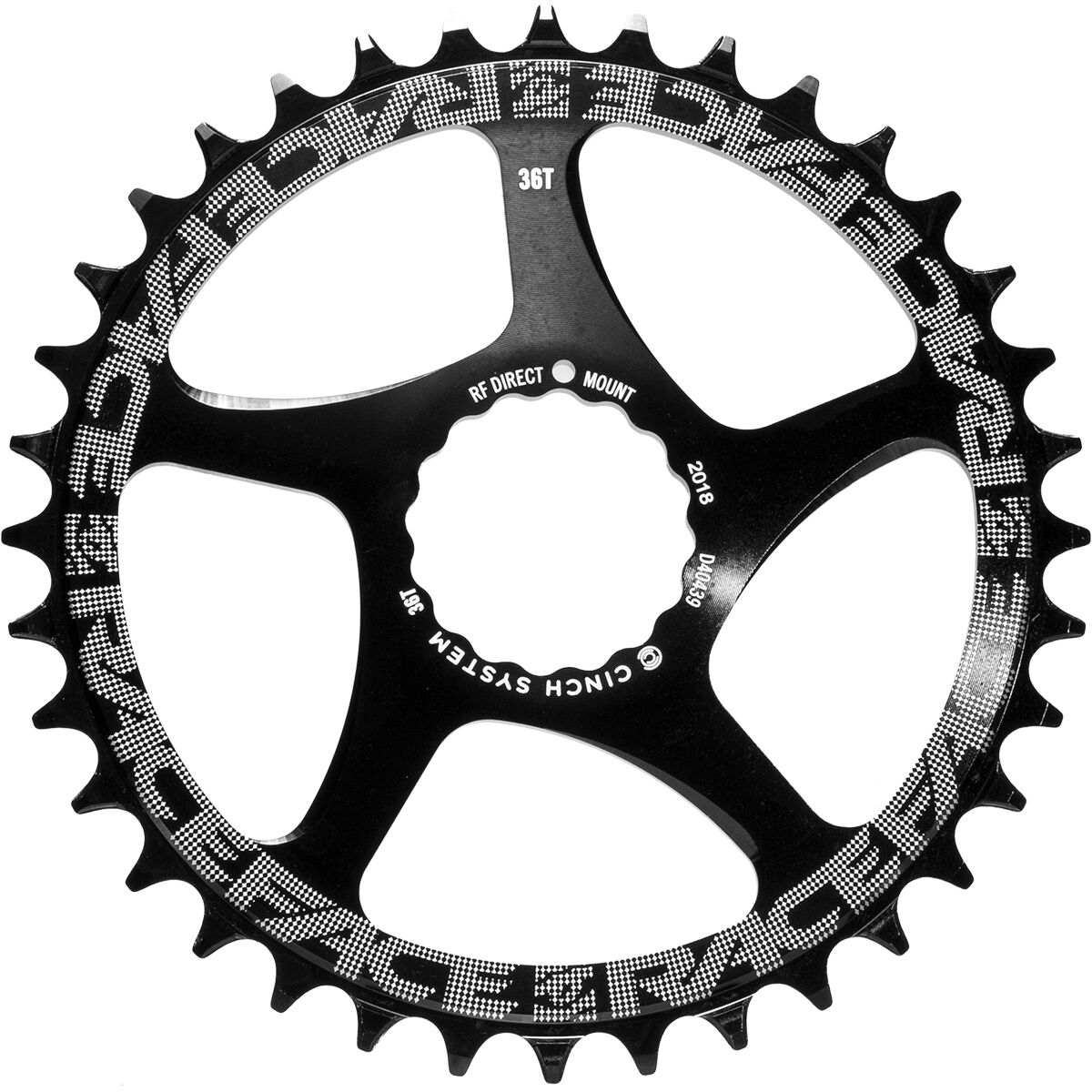 Race Face Single Narrow Wide 1x MTB Direct Mount Cinch Chainring 34t Green