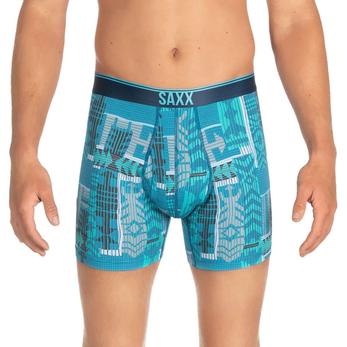 Size M L Saxx Men/'s Underwear Quest Boxer Briefs with Fly Dark Charcoal