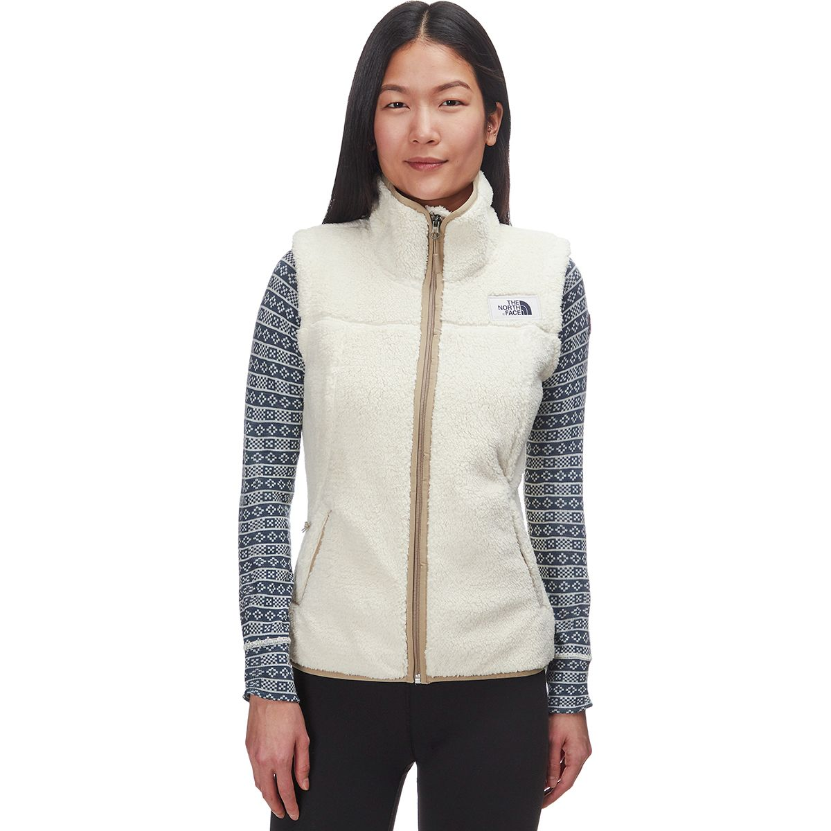 The North Face - Campshire Fleece Vest - Women's - Vintage White/Dune Beige