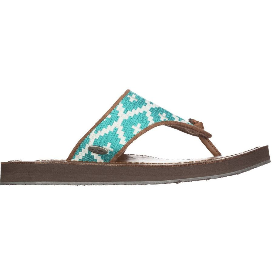 Acorn Artwalk Leather Flip Flop - Womens