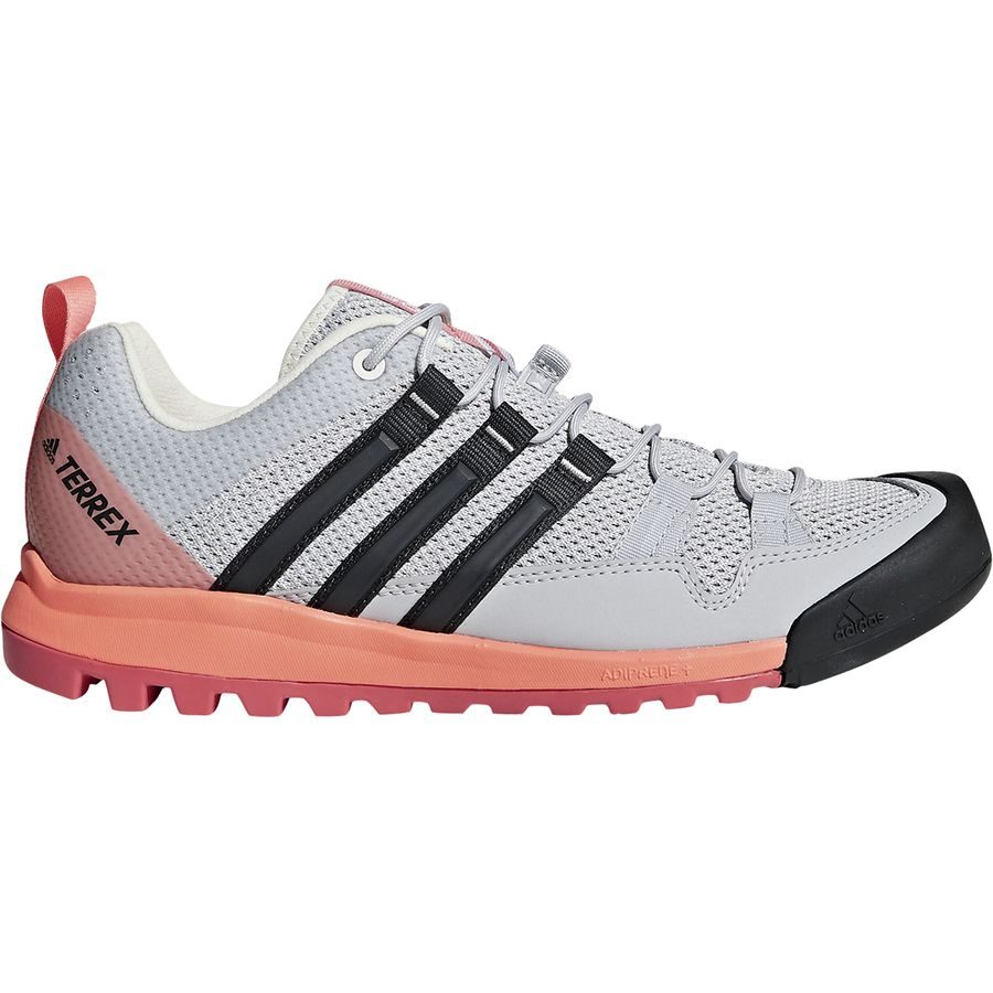 finest selection 69443 2894b Adidas Outdoor - Terrex Solo Approach Shoe - Women s - Grey Two Carbon Chalk