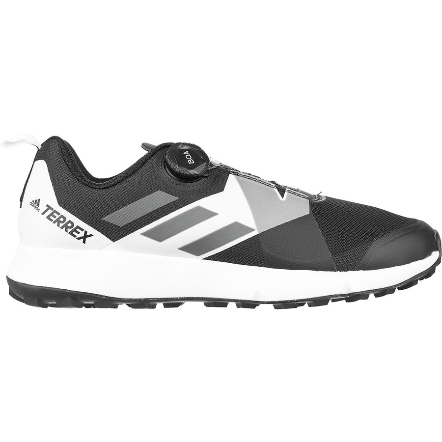 Adidas Outdoor - Terrex Two Boa Trail Running Shoe - Men s - Black  Translucent  866c90183