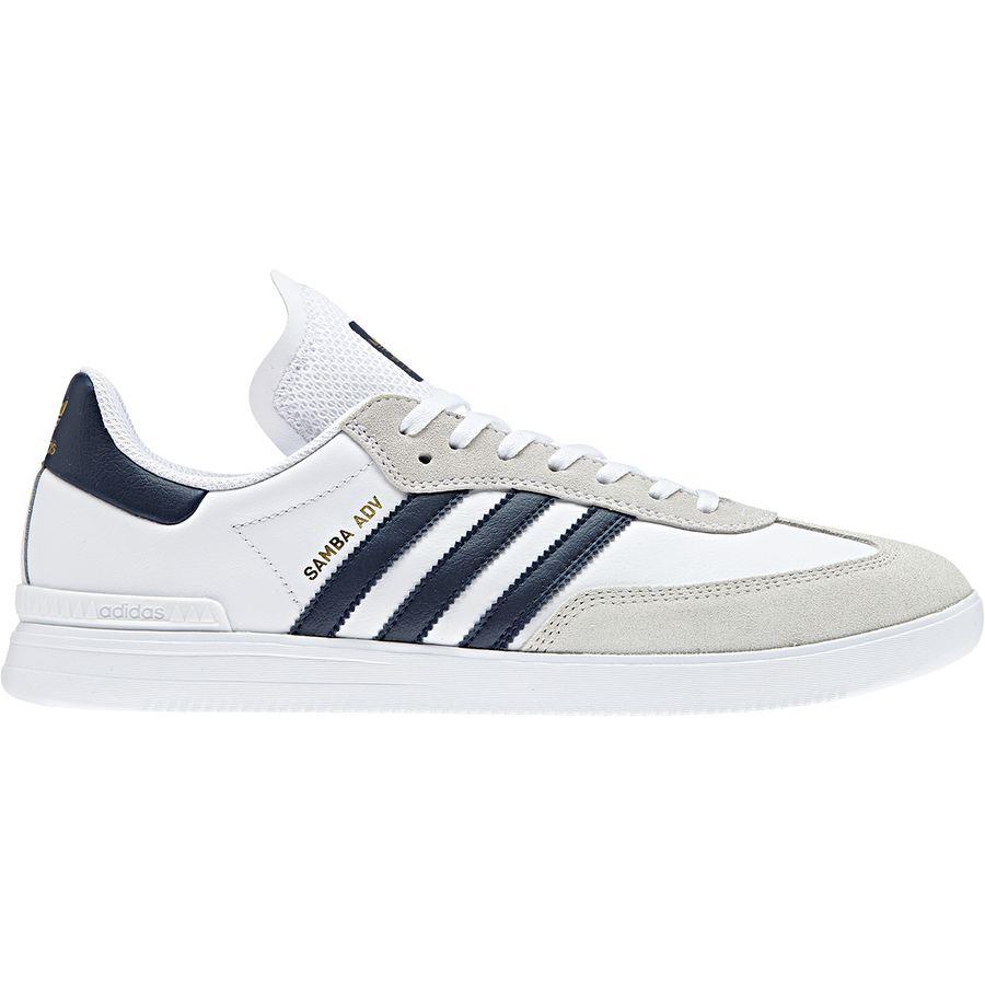 Adidas - Samba Adv Shoe - Men's - Ftwr White/Collegiate Navy/Gold Metallic